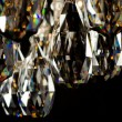 Contemporary glass chandelier crystals closeup - Stock Photo
