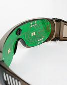 Futuristic microchip goggles — Stock Photo