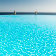 Stock Photo: Infinity pool