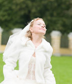 Young bride happy — Foto Stock