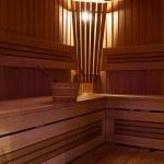 Innenraum der sauna — Stockfoto