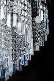 Contemporanea di vetro lampadario closeup — Foto Stock