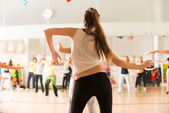 Dance class for women — Stock Photo
