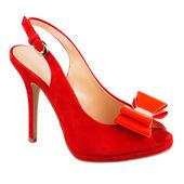 Fashion female shoe on white — Foto de Stock