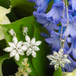 Stock Photo: Jewellery on flowers