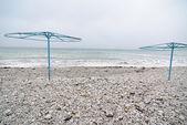 Empty beach at winter — Stock Photo