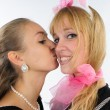Stock Photo: Two Young women