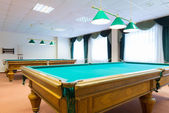 Billiard tables — Stock Photo