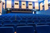 Sillones azules en el cine — Foto de Stock
