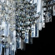 Contemporary glass chandelier fragment — Foto Stock