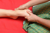 Traditional thai foot massage — Stock Photo