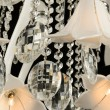 Contemporary glass chandelier fragment — Stock Photo