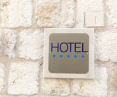 Five star hotel sign — Stock Photo