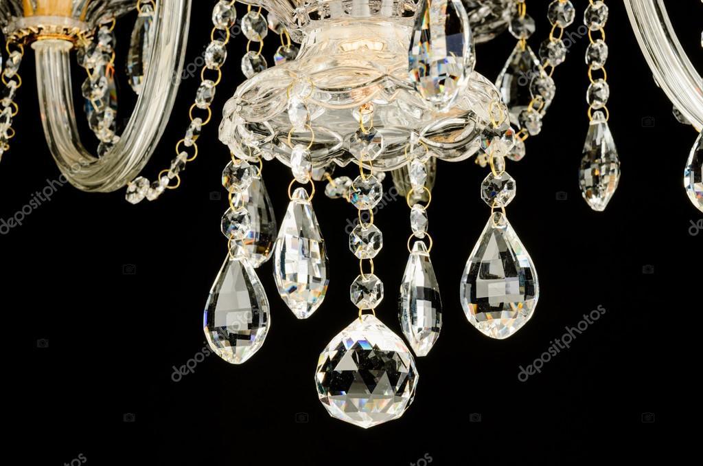 Frammento di lampadario vetro contemporaneo — Foto Stock ...