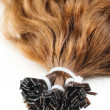 Brown hair extensions — Stock Photo