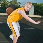 Teenage girl with basketball — Stock Photo #3539134
