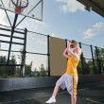 Basketball shooting training — Stock Photo #3578989