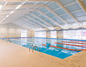 Indoors swimming pool — Stock Photo
