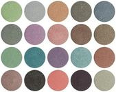 Palette of colorful eye shadows — Stock Photo