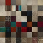 Textile chart with many color samples — Stock Photo