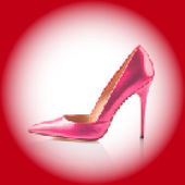 Pink high heel shoe — Stock Vector