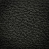 Black leather macro shot — Stock Photo