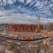 Construction site panorama — Stock Photo