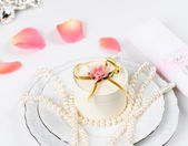 Wedding table accessories — Stock Photo