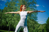 Athlete woman in park — Stock Photo