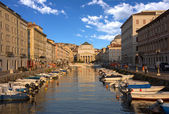 Grand Canal, Trieste, Italy — Stock Photo