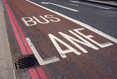 Bus lane — Stock Photo