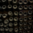 Wine bottles in cellar — Stock Photo