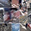 Stock Photo: UrbBike lanes