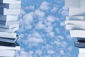 Boeken venster naar de hemel — Stockfoto