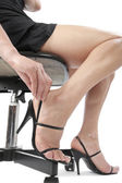 Woman legs with high heels — Stock Photo