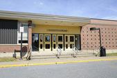 School auditorium entrance — Stock Photo