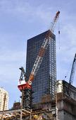 Skyskrapa konstruktion — Stockfoto