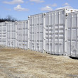 Many freight containers — Foto de Stock