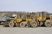 Several construction vehicles — Stock Photo