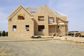 Large two story family home under construction — Stock Photo