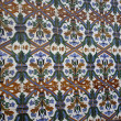 Ornate painted tiles — Stock Photo