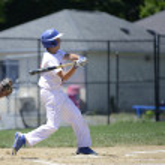 Baseball batter swinging — Stock Photo #49540671