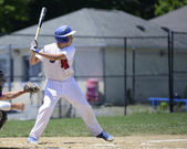 Teen baseball batter — Stock Photo