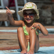 Happy Little Girl in Swimming Pool — Stock Photo #40346495