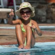 Stock fotografie: Happy Little Girl in Swimming Pool