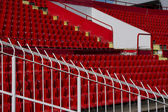 Seats red at stadium — Stock fotografie