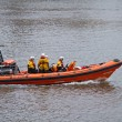 Stock Photo: RNLI Launch on River Thames