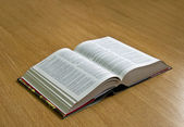 Dictionary with pages open — Stock Photo