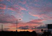 Zonsondergang over hove — Stockfoto