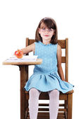Child at School Desk — Stock Photo